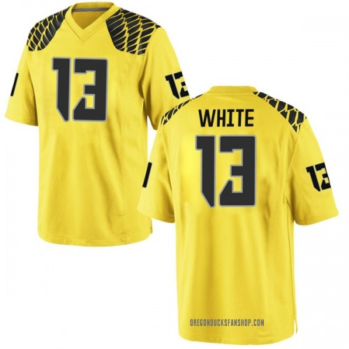 Youth Nike Paul White Oregon Ducks Game Gold Football College Jersey