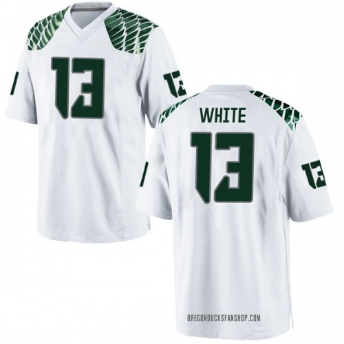 Youth Nike Paul White Oregon Ducks Game White Football College Jersey