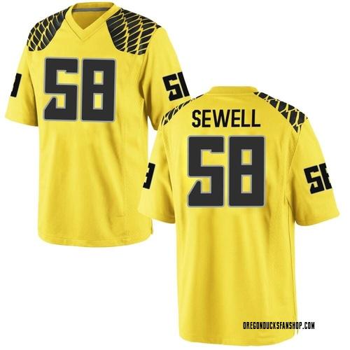 Youth Nike Penei Sewell Oregon Ducks Replica Gold Football College Jersey