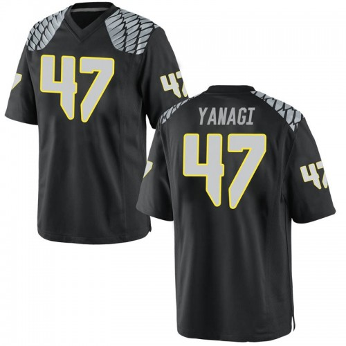 Youth Nike Peyton Yanagi Oregon Ducks Game Black Football College Jersey