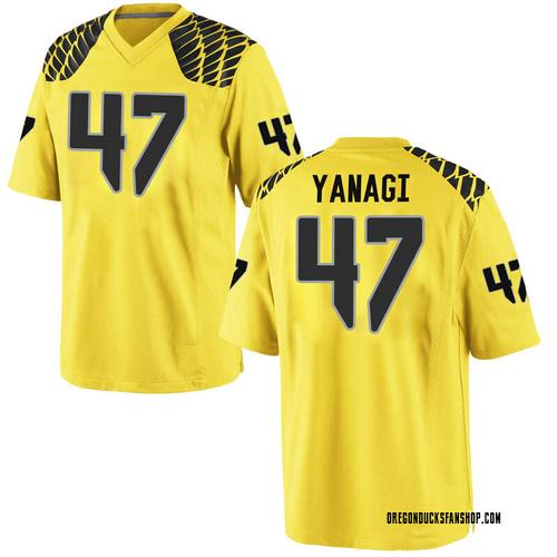 Youth Nike Peyton Yanagi Oregon Ducks Replica Gold Football College Jersey