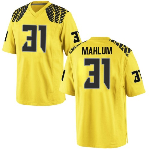 Youth Nike Race Mahlum Oregon Ducks Game Gold Football College Jersey