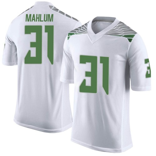 Youth Nike Race Mahlum Oregon Ducks Limited White Football College Jersey
