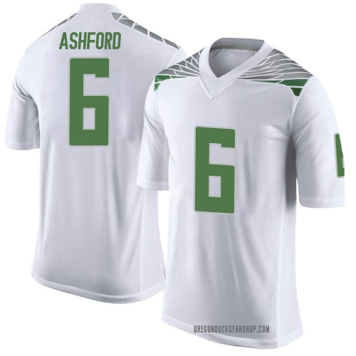 Youth Nike Robby Ashford Oregon Ducks Limited White Football College Jersey