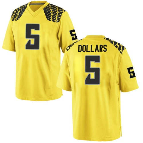 Youth Nike Sean Dollars Oregon Ducks Replica Gold Football College Jersey