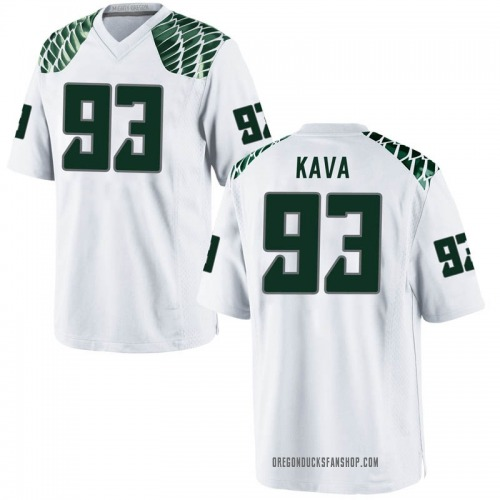Youth Nike Sione Kava Oregon Ducks Game White Football College Jersey