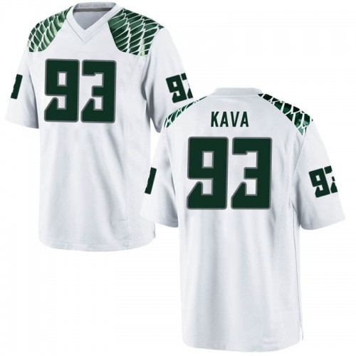 Youth Nike Sione Kava Oregon Ducks Replica White Football College Jersey