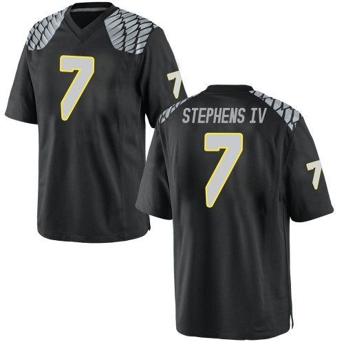 Youth Nike Steve Stephens IV Oregon Ducks Game Black Football College Jersey