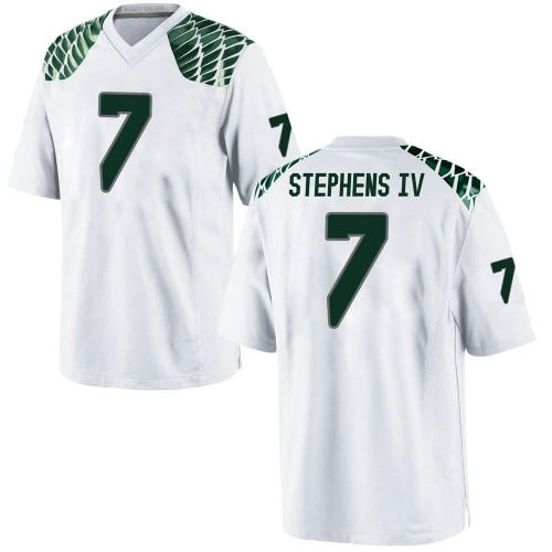 Youth Nike Steve Stephens IV Oregon Ducks Replica White Football College Jersey