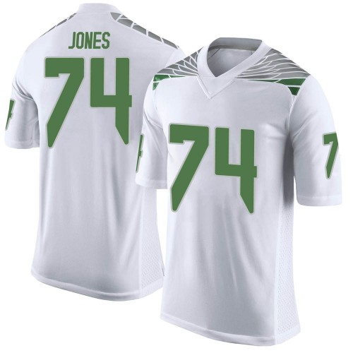 Youth Nike Steven Jones Oregon Ducks Limited White Football College Jersey
