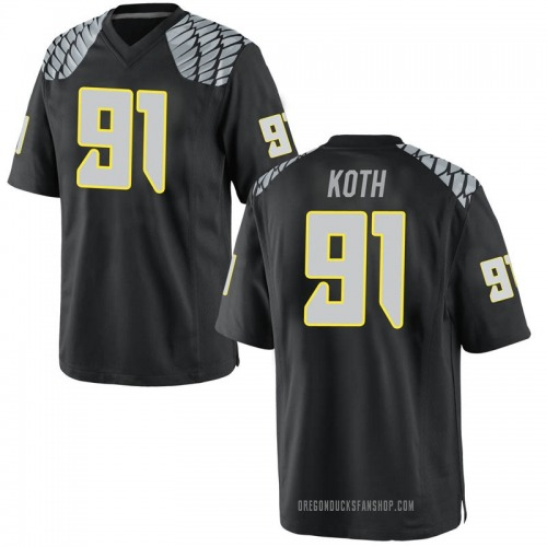 Youth Nike Taylor Koth Oregon Ducks Game Black Football College Jersey