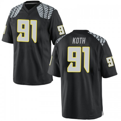 Youth Nike Taylor Koth Oregon Ducks Replica Black Football College Jersey