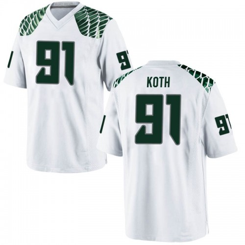 Youth Nike Taylor Koth Oregon Ducks Replica White Football College Jersey