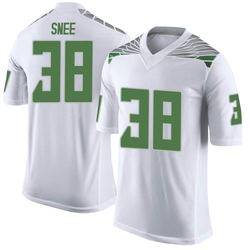 Youth Nike Tom Snee Oregon Ducks Limited White Football College Jersey