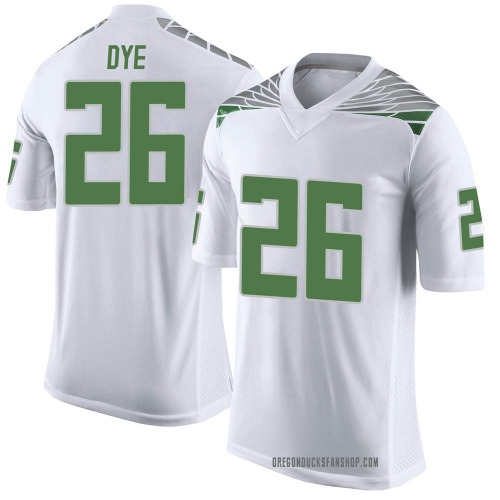 Youth Nike Travis Dye Oregon Ducks Limited White Football College Jersey