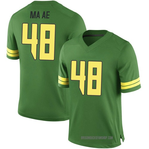 Youth Nike Treven Ma'ae Oregon Ducks Game Green Football College Jersey