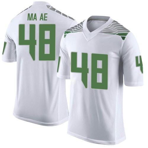 Youth Nike Treven Ma'ae Oregon Ducks Limited White Football College Jersey