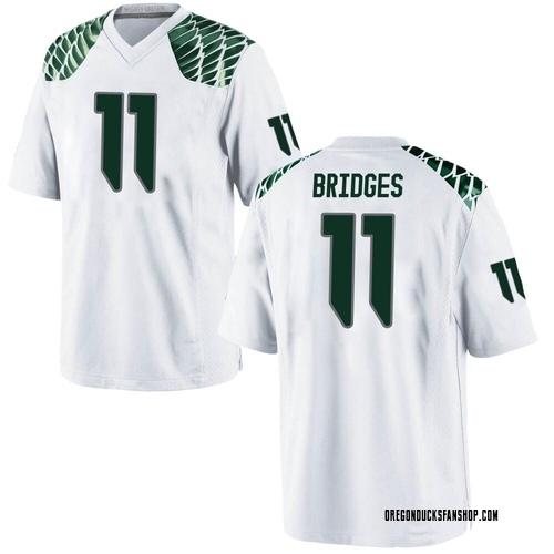Youth Nike Trikweze Bridges Oregon Ducks Game White Football College Jersey