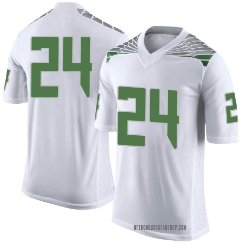 Youth Nike Vincenzo Logan Oregon Ducks Limited White Football College Jersey