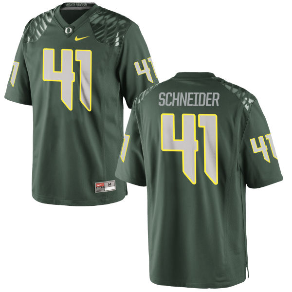Men's Nike Aidan Schneider Oregon Ducks Game Green Football Jersey