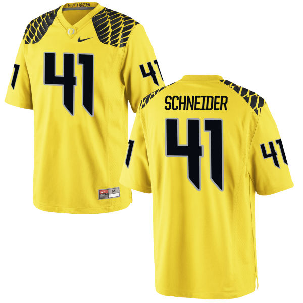 Men's Nike Aidan Schneider Oregon Ducks Game Gold Football Jersey