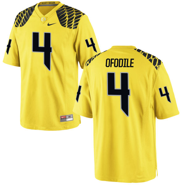 Men's Nike Alex Ofodile Oregon Ducks Game Gold Football Jersey