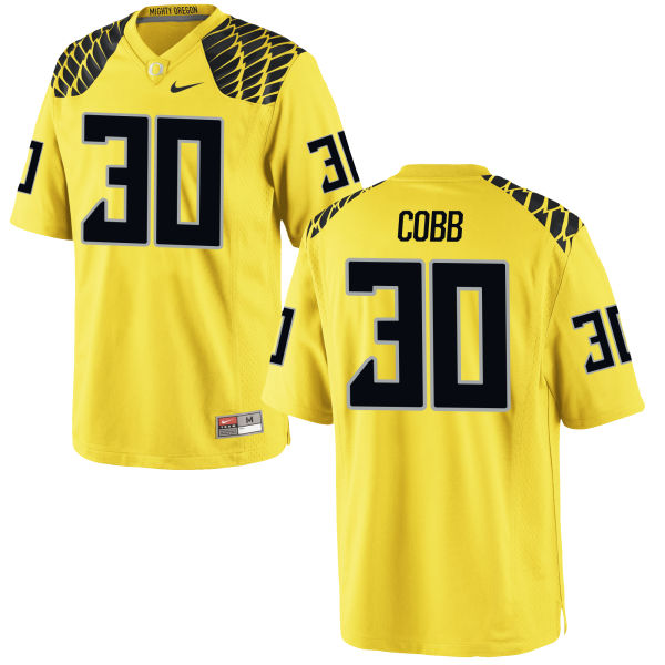Men's Nike Alfonso Cobb Oregon Ducks Replica Gold Football Jersey