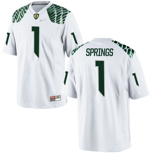Youth Nike Arrion Springs Oregon Ducks Replica White Football Jersey