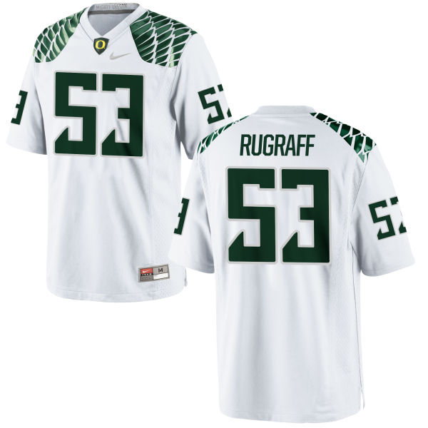 Men's Nike Blake Rugraff Oregon Ducks Game White Football Jersey