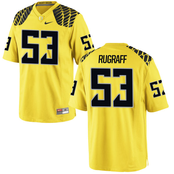 Men's Nike Blake Rugraff Oregon Ducks Game Gold Football Jersey