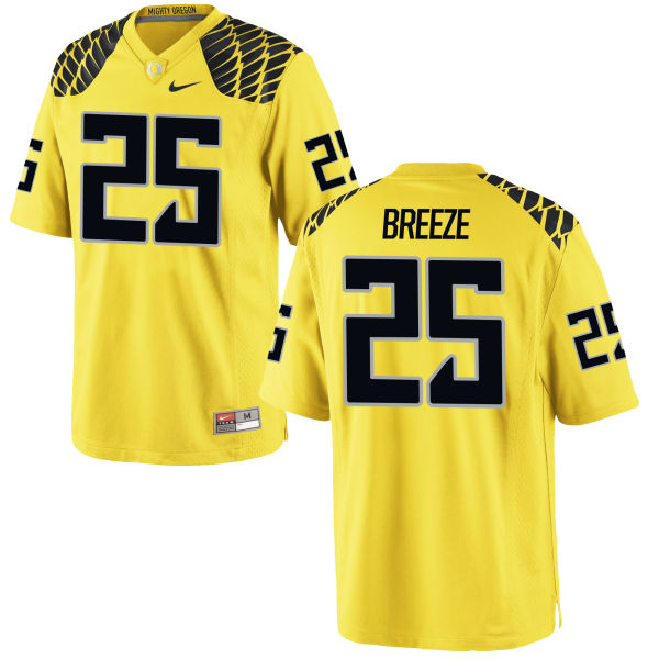 Men's Nike Brady Breeze Oregon Ducks Authentic Gold Football Jersey