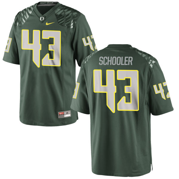 Men's Nike Brenden Schooler Oregon Ducks Game Green Football Jersey