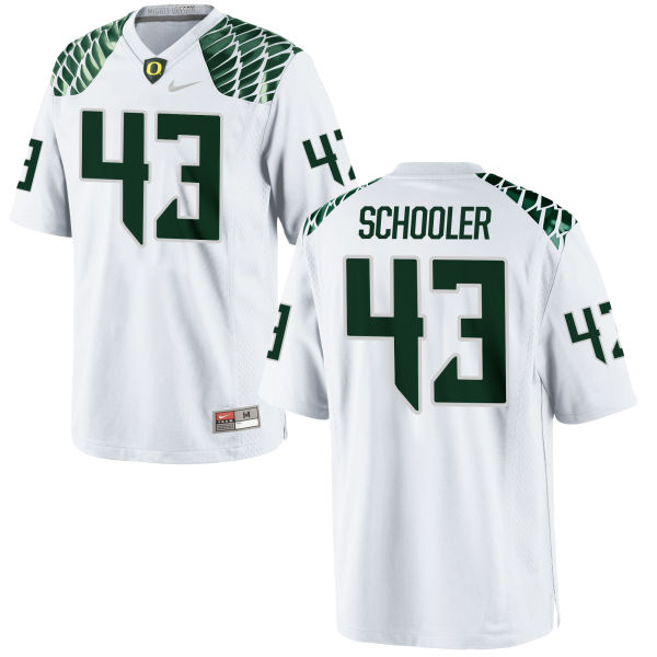 Men's Nike Brenden Schooler Oregon Ducks Game White Football Jersey