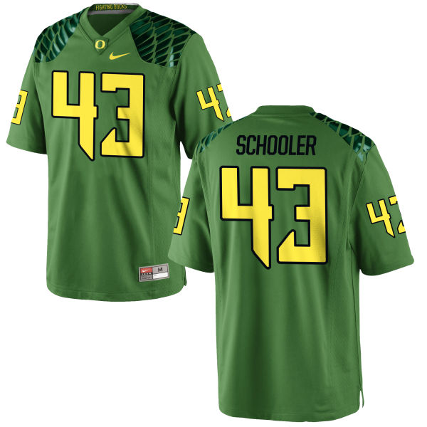 Men's Nike Brenden Schooler Oregon Ducks Game Green Alternate Football Jersey Apple