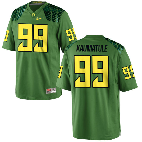 Men's Nike Canton Kaumatule Oregon Ducks Game Green Alternate Football Jersey Apple