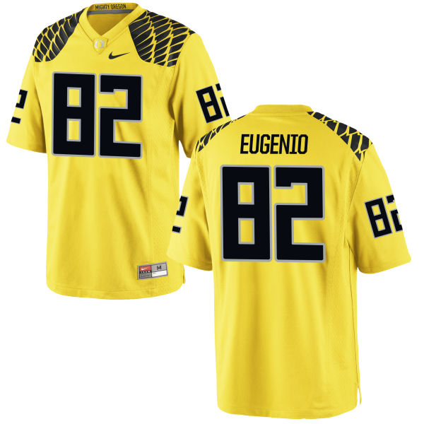 Men's Nike Casey Eugenio Oregon Ducks Game Gold Football Jersey