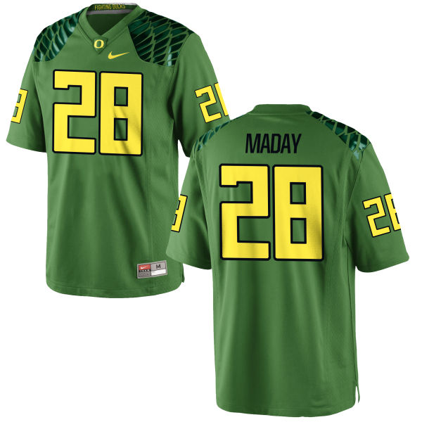 Men's Nike Chayce Maday Oregon Ducks Game Green Alternate Football Jersey Apple