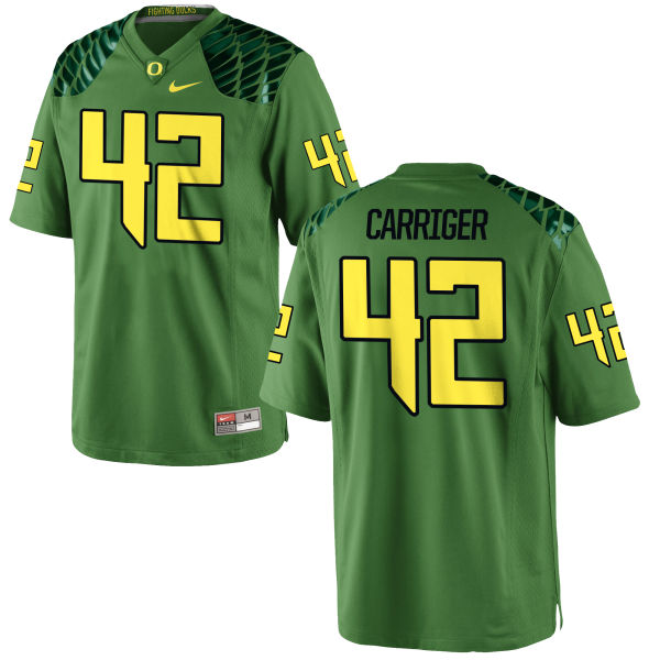 Men's Nike Cody Carriger Oregon Ducks Replica Green Alternate Football Jersey Apple