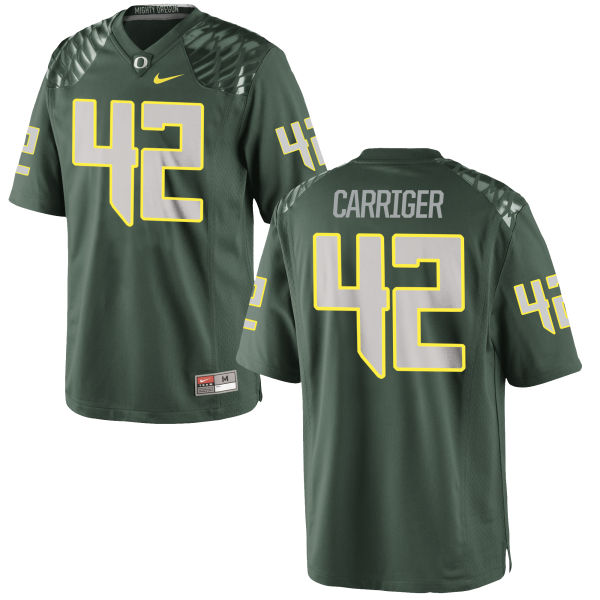 Men's Nike Cody Carriger Oregon Ducks Game Green Football Jersey