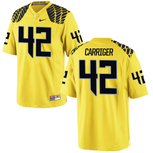 Men's Nike Cody Carriger Oregon Ducks Game Gold Football Jersey