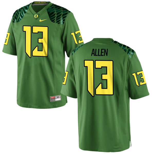 Men's Nike Devon Allen Oregon Ducks Authentic Green Alternate Football Jersey Apple