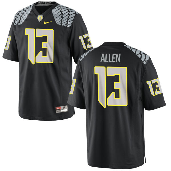 Men's Nike Devon Allen Oregon Ducks Authentic Black Jersey