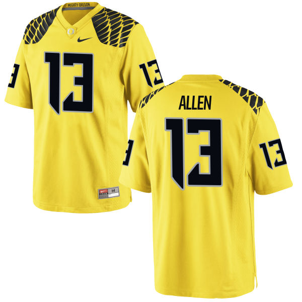 Men's Nike Devon Allen Oregon Ducks Authentic Gold Football Jersey