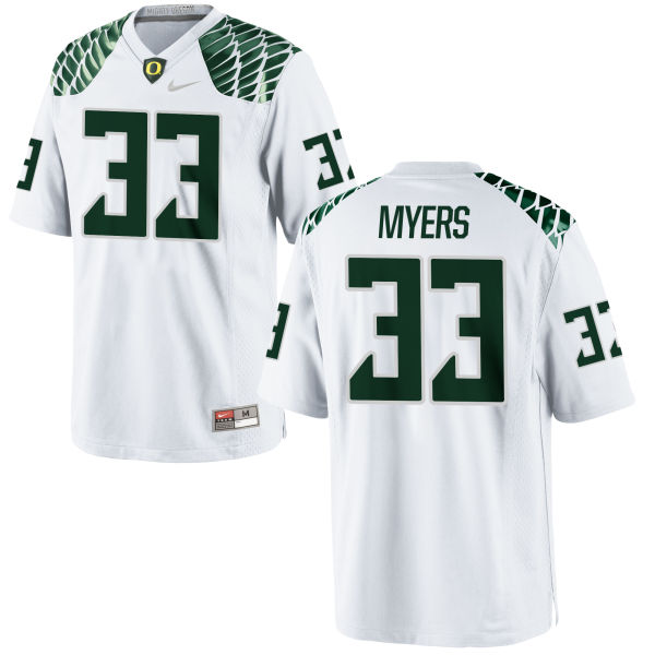 Youth Nike Dexter Myers Oregon Ducks Replica White Football Jersey