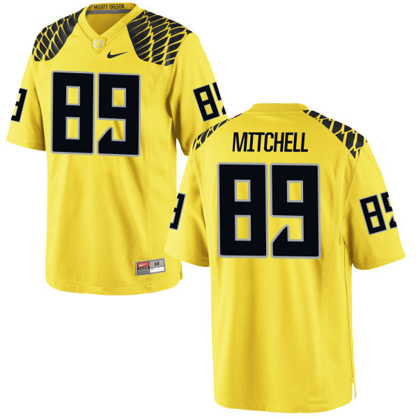 Men's Nike Dillon Mitchell Oregon Ducks Authentic Gold Football Jersey