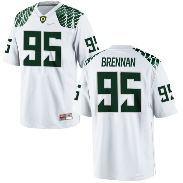 Men's Nike Drake Brennan Oregon Ducks Limited White Football Jersey