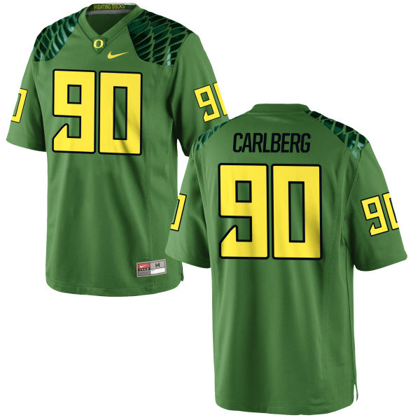 Men's Nike Drayton Carlberg Oregon Ducks Game Green Alternate Football Jersey Apple