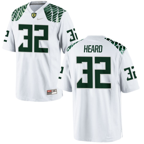 Men's Nike Eddie Heard Oregon Ducks Game White Football Jersey