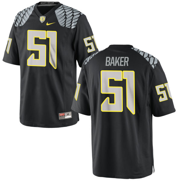 Men's Nike Gary Baker Oregon Ducks Authentic Black Jersey