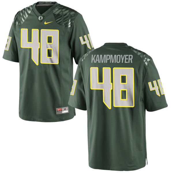 Men's Nike Hunter Kampmoyer Oregon Ducks Authentic Green Football Jersey